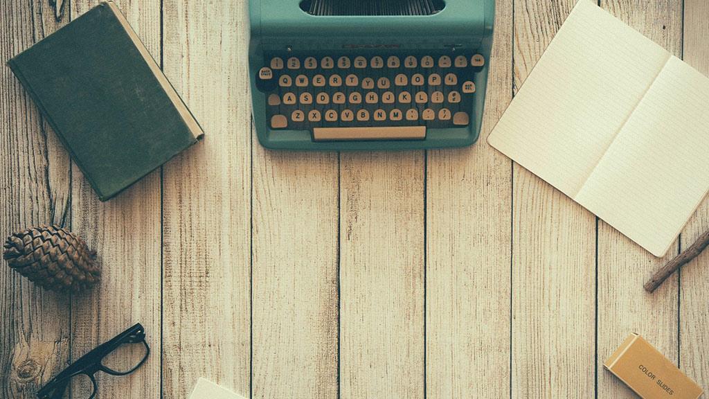 Schreibmaschine Buch Notizen