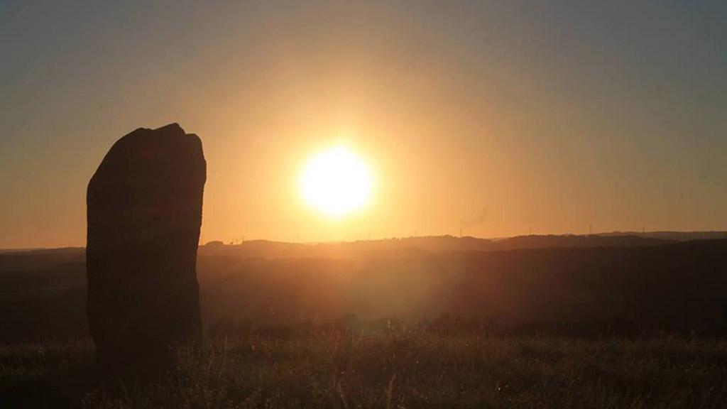 Hinkelstein im Sonnenuntergang