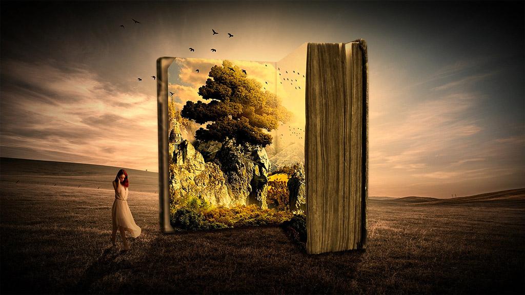 Buch gefüllt mit Leben, Wissen und der Weisheit einer Frau
